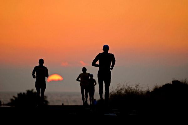 Ironman World Championship sunset Rich Cruse