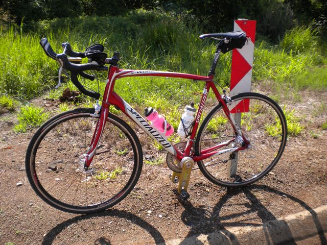 Conrad Stoltz Specialized Tarmac with Power Cranks and TT set-up