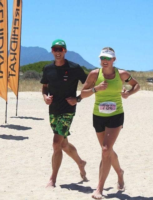 Conrad Stoltz, Liezel stoltz, beach run , totalsports challenge