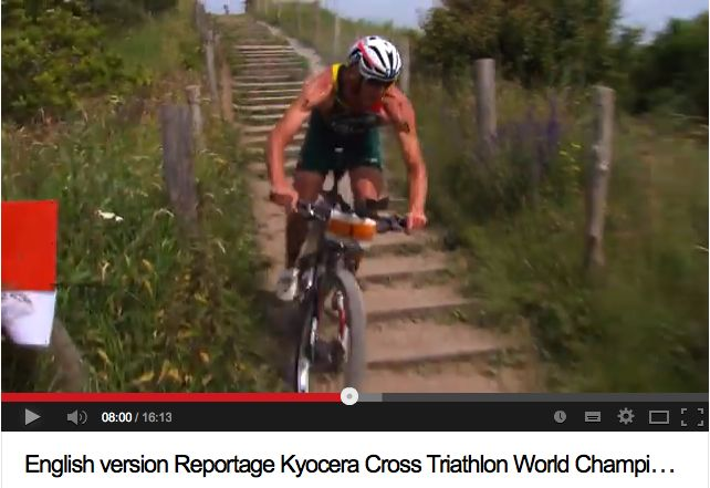 Conrad Stoltz Caveman 2013 ITU Cross Triathlon World Championships youtube
