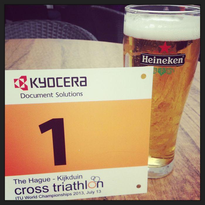 Conrad Stoltz Caveman ITU Cross Triathlon World Championships Heineken race number
