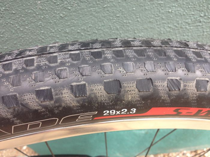 Conrad Stoltz Caveman ITU Cross Triathlon World Championships Specialized Renegade Sworks 2.3 tire with all the knobs cut off beach sand racing