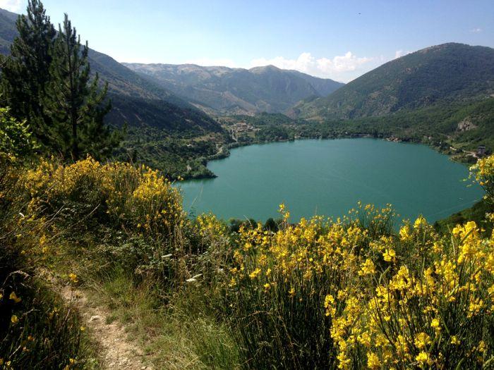 Conrad Stoltz XTERRA Italy lago di scanno run