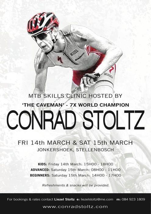 Conrad Stoltz Caveman Skills Clinic Jonkershoek Stellenbosch March 14&15