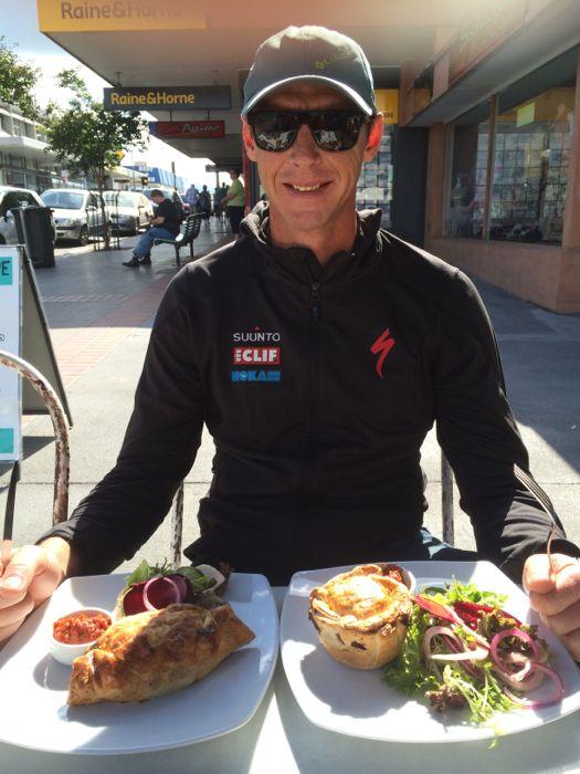 Conrad Stoltz Caveman Australian meat pies