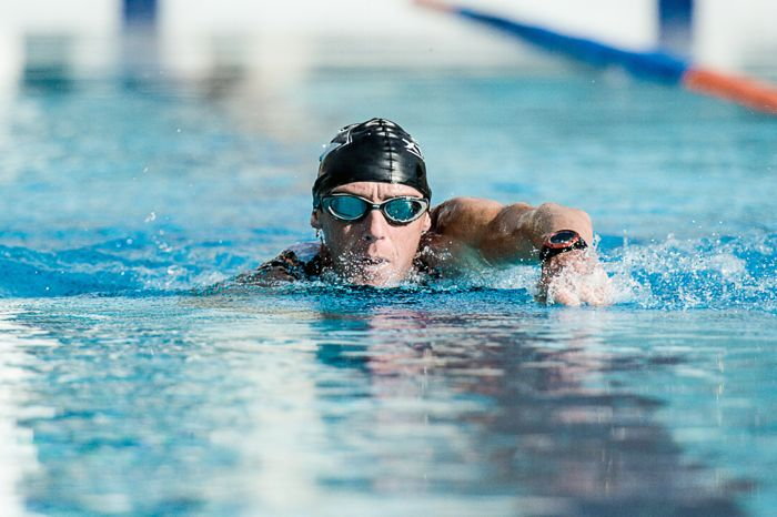 Conrad Stoltz, caveman, swimming, 30 minute swim workout, Blue Seventy, Suunto Ambit2s, Suunto