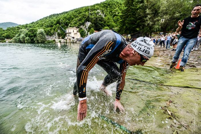 Conrad Stoltz Caveman XTERRA Italy 2014 Swim exit BlueSeventy