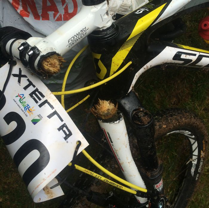Hand made handlebar fix XTERRA Italy 2014