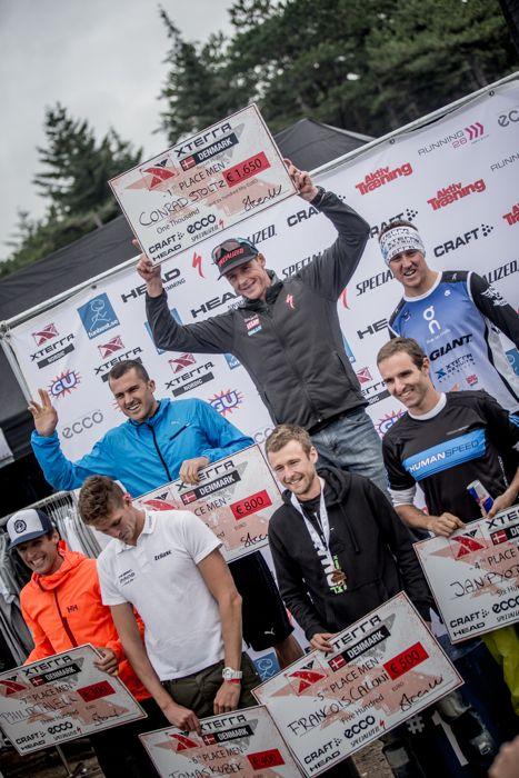 Conrad Stoltz Caveman XTERRA Denmark Specialized, Suunto, Hoka, ClifBar mens podium