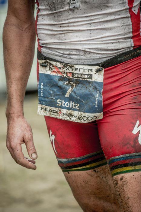 Conrad Stoltz Caveman XTERRA Denmark Specialized, Suunto, Hoka, ClifBar race number