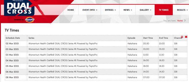 DualX #1 TV times