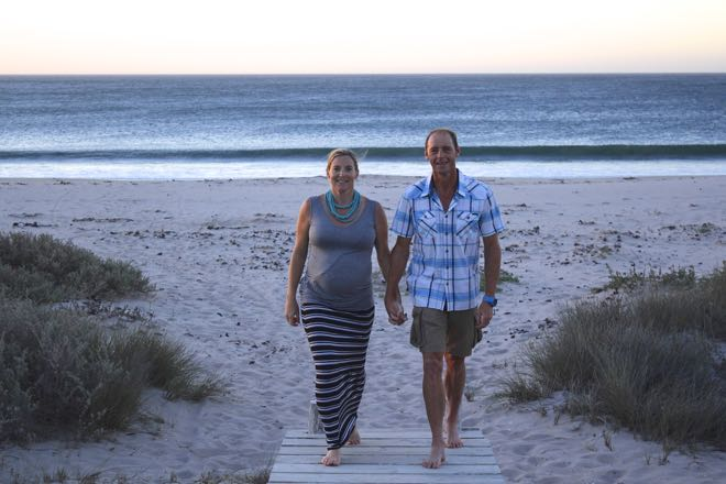Conrad Stoltz Liezel Stoltz beach walk Britannia bay