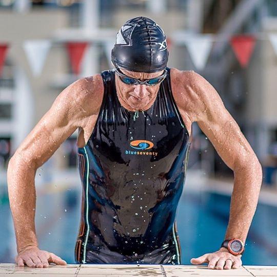 Conrad Stoltz swimming Suunto Blueseventy